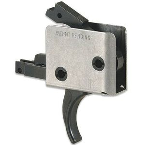 """CMC Triggers AR-15 Drop-In Two Stage Match Trigger Curved 2-2 LB .154"""" Small Pin Receiver Matte Black 92502"""