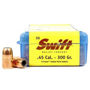 """Swift .45 Caliber .452"""" Diameter 280 Grain A-Frame Hollow Point Bullet 50 Count 442800"""