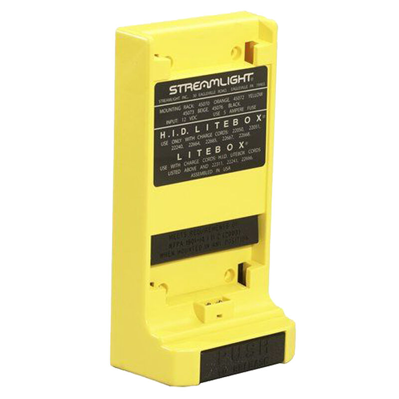 Streamlight Mounting Rack, Yellow, Fits Lite-Box and Fire-Box