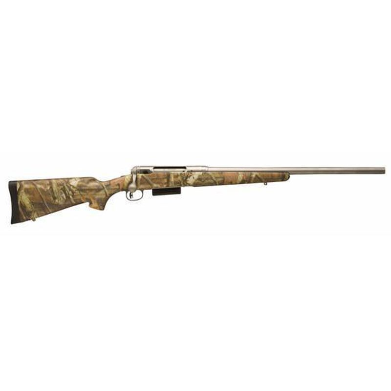 """Savage 220 Bolt Action Shotgun 20 Gauge 22"""" Rifled Barrel 2 Rounds Camo Synthetic Stock Stainless Steel 19641"""