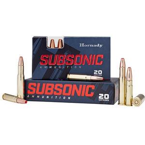 Hornady Subsonic .450 Bushmaster Ammunition 20 Rounds 395 Grain SUB-X 82247