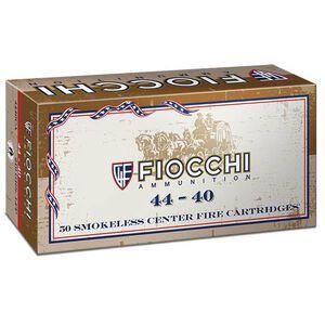 Fiocchi Cowboy Action .44-40 Winchester Ammunition 50 Rounds 210 Grain Lead Round Nose Flat Point 725fps