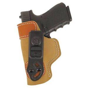 DeSantis 106 Ruger LC9, Kahr, Keltec P11, Taurus 709 Slim Sof-Tuck Inside the Pant Left Hand Leather Tan