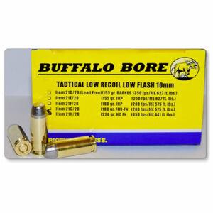 Buffalo Bore Tactical 10mm Auto Ammunition 20 Rounds Hard Cast FN 220 Grain 21H/20