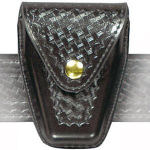 Safariland Model 190 Handcuff Pouch Chain Cuffs Top Flap Brass Snap SafariLaminate Basket Black 190-4B