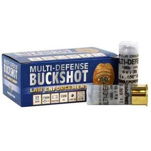 "NobelSport Multi-Defense 12 Ga 2.75"" #1 Buck 6 Pellet 10 Rounds"