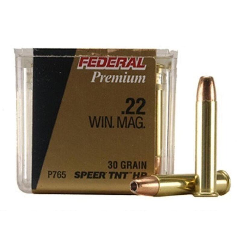 Federal V-Shok  22 WMR Ammunition 50 Rounds 30 Grain Speer TNT Hollowpoint  2,200 Feet Per Second