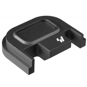 Strike Industries GLOCK Slide Cover Plate Fits All GLOCK Models Except 42/43 V1 Button Aluminum Black  SI-GSP-V1-BK
