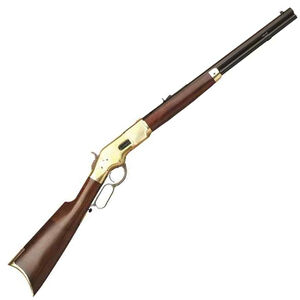 "Cimarron 1866 Yellowboy Lever Action Short Rifle .38 Special 20"" Barrel 10 Rounds Brass Receiver Walnut Stock Blued CA221"