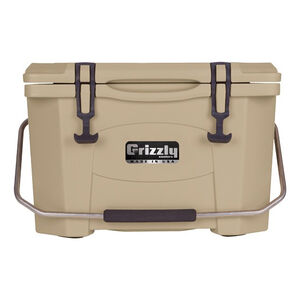 Grizzly Coolers Grizzly 20 Rotomolded 20 Quart Cooler Tan/Tan