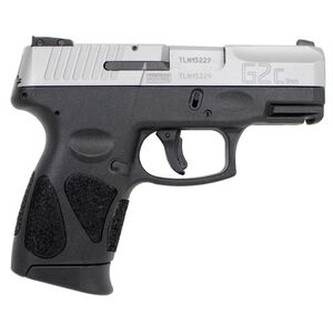 "Taurus PT111 G2C 9mm Luger Semi Auto Pistol 3.2"" Barrel 10 Rounds 3 Dot Sights Black Polymer Frame Stainless Finish"