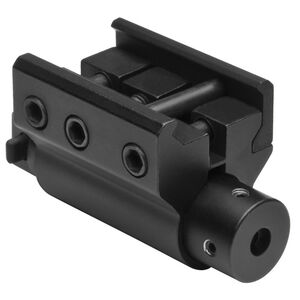 NcSTAR Red Laser with Weaver Style Mount 3 AG13 Batteries Adjustable Windage and Elevation End Cap Anodized Black