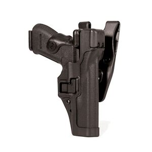 BLACKHAWK! SERPA Beretta 92 Level 3 Auto Lock Holster Left Hand Jacket Slot Duty Belt Loop Plain Black