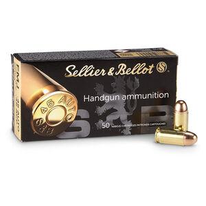 Sellier & Bellot .45 ACP Ammunition 50 Rounds 230 Grain FMJ 853 fps