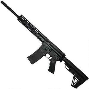 "ATI MILSPORT AR-15 Semi Auto Rifle 5.56 NATO 16"" Barrel 30 Rounds Keymod Handguard Nano Composite LPK Collapsible Stock Black"