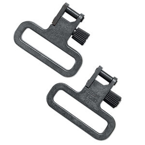 "Uncle Mike's Super Heavy Duty Mil-Spec Swivels 1.25"" Swivel Loop Steel Construction Silver Finish"