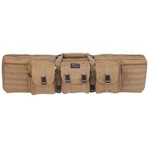 """Bulldog Double Tactical Rifle Case Polyester Canvas 37"""" Tan"""