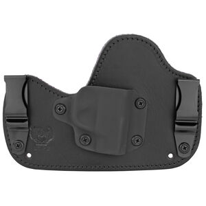 Flashbang Ava Inside the Waistband Holster for Ruger LCP II Right Hand Draw Black Kydex Shell/Black Leather Body/Royal Purple Suede Backing