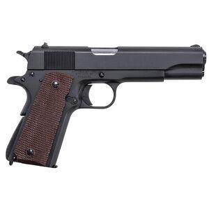 "Auto-Ordnance Thompson Series 80 1911 .45 ACP Semi Auto Pistol 5"" Barrel 7 Rounds Checkered Plastic Grips Matte Black"