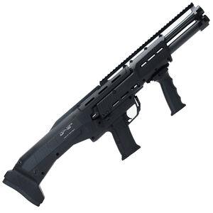 "Standard Manufacturing DP12 Double Barrel 12 Gauge Pump Action Shotgun 18-7/8"" Barrels 10 Rounds Picatinny Rail Synthetic Stock Black Finish"