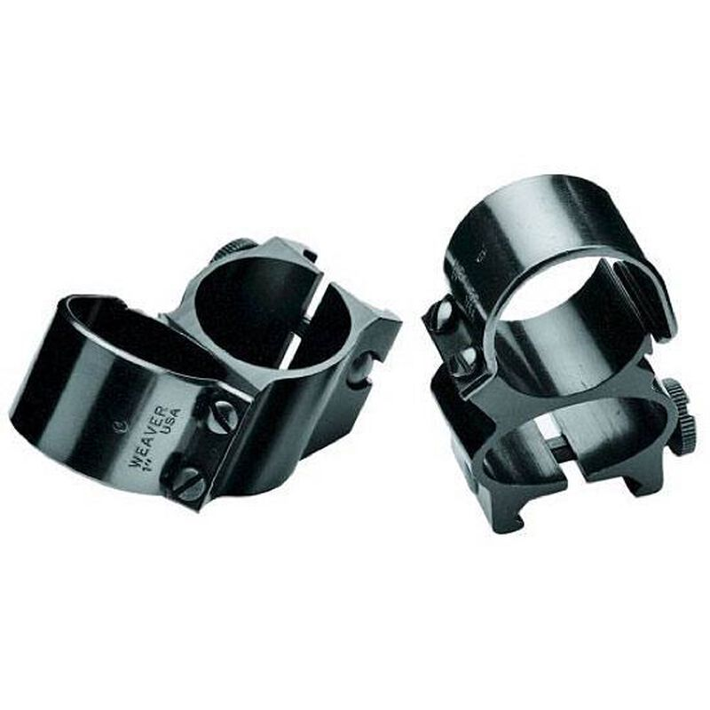 "Weaver 1"" Detachable See-Thru Rings Aluminum Gloss Black 49513"