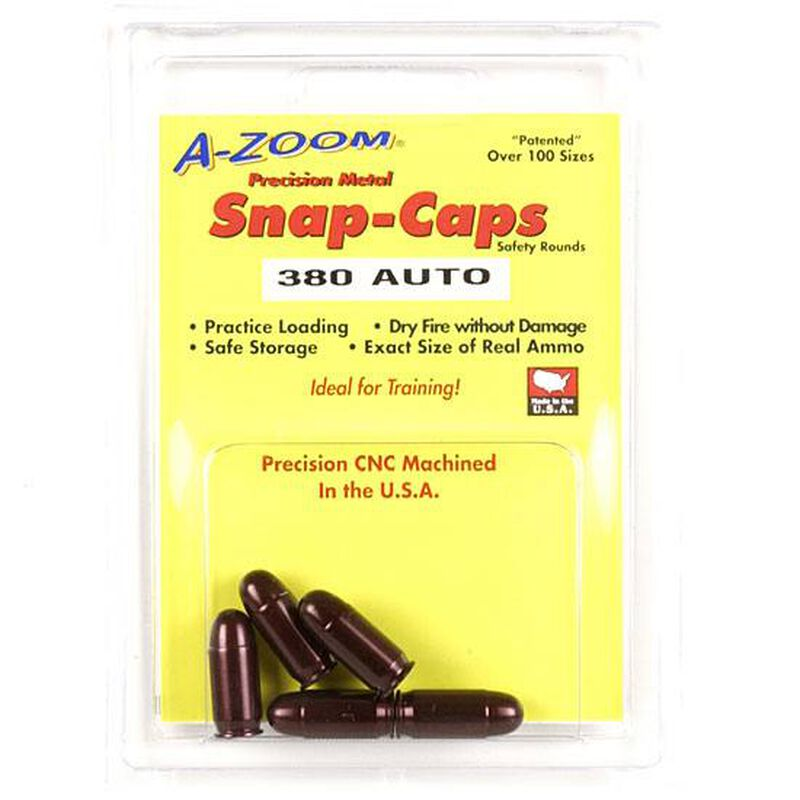 A-Zoom Snap Caps for .380 Auto Five Pack