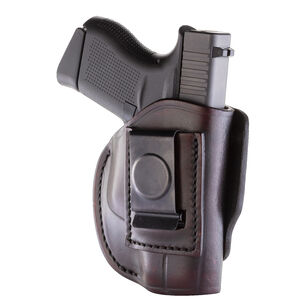 1791 Gunleather 4 Way WH-2 Multi-Fit IWB/OWB Concealment Holster for .380 ACP Semi Auto Models Right Hand Draw Leather Signature Brown