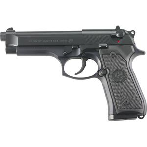 """Beretta M9 Semi Auto Handgun 9mm Luger 4.9"""" Barrel 15 Rounds Synthetic Grips Military Style Markings Black Finish J92M9A0M"""