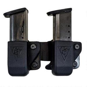 Comp-Tac Twin Magazine Pouch Belt Clip Left Side Carry Fits S&W M&P Shield 9/40 Kydex Black