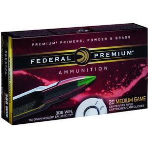 Federal .308 Win Ammunition 20 Rounds 150 Grain Nosler Ballistic Tip Hunting Bullet 2820fps