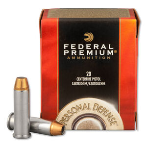 Federal Personal Defense .38 Special +P Ammunition, 20 Rounds, Hydra-Shok HP, 129 Grains