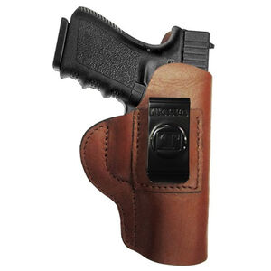 Tagua Gun Leather Super Soft Inside Waistband Holster For GLOCK 42 Leather Left Hand Black SOFT-306