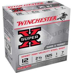 """Winchester Super X Expert 12 Gauge Ammunition 25 Rounds 2.75"""" #7 Steel 1 Ounce WE12GT7"""