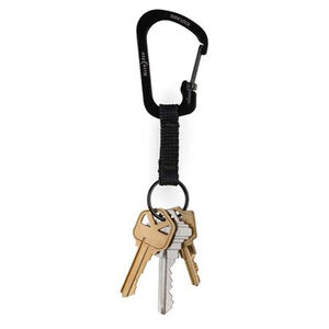 Nite-Ize SlideLock Aluminum Carabiner Key Ring Black