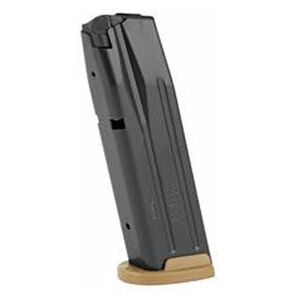SIG Sauer M17/P320/P250 Full Size 17 Round Magazine 9mm Luger Coyote Tan Base Plate Black Finish