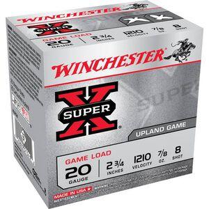 """Winchester Super-X 20 Ga 2.75"""" #8 Lead .875oz 250 rds"""