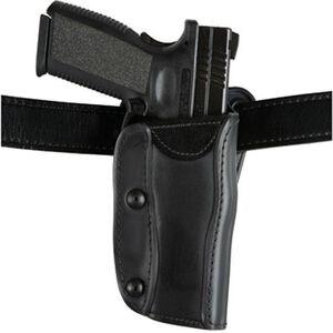 Safariland 568 Custom Fit Belt and Paddle Holster for GLOCK, HK, S&W and More, Left Hand, STX Plain Black