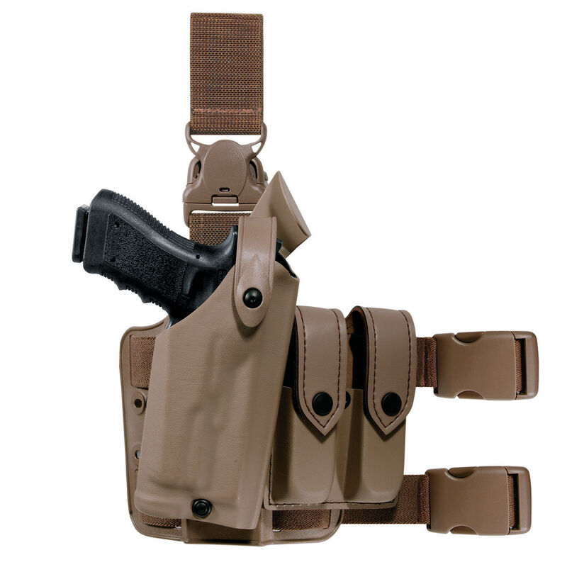 Safariland Model 6005 Beretta M9A1 SLS Tactical Holster with Quick Release Leg Strap Right Hand STX Tactical FDE Brown 6005-73-551