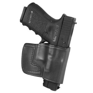 Don Hume J.I.T. Railed 1911 Slide Holster Right Hand Black Leather J942010R