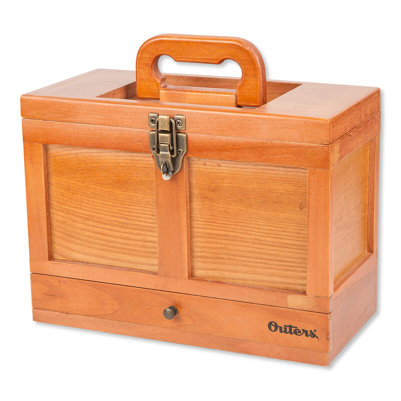 Outers Universal 25 Piece Cleaning Kit In Wooden Chest 70084