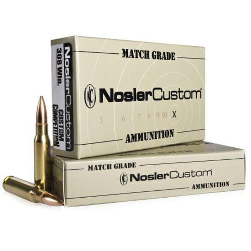 Nosler Match Grade .308 Win 155 Grain BTHP 20 Round Box