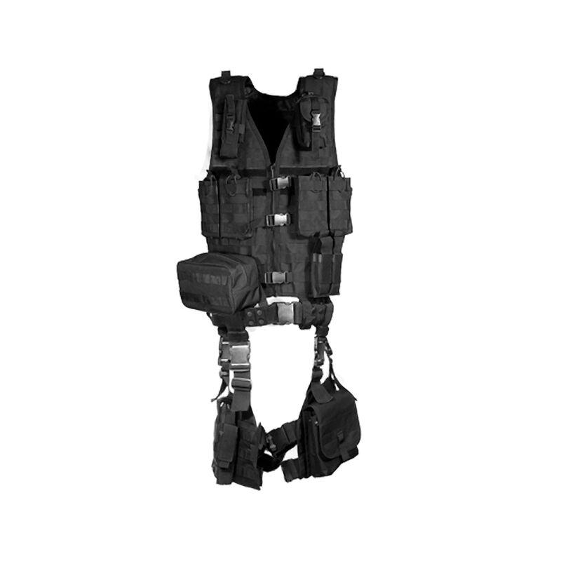 UTG Ultimate Tactical Assault Ten Piece Gear Set Black PVC-V747KTB