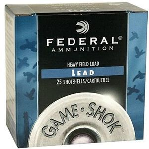"Federal Game Shok 20 Gauge Ammunition 25 Rounds 2.75"" #7.5 Lead 7/8 Ounce H20075"