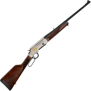 "Henry Long Ranger Deluxe Wildlife Lever Action Rifle .308 Win 20"" Barrel 4 Rounds with Sights Elk Engraved Receiver Walnut Stock Nickel/Blued Finish"