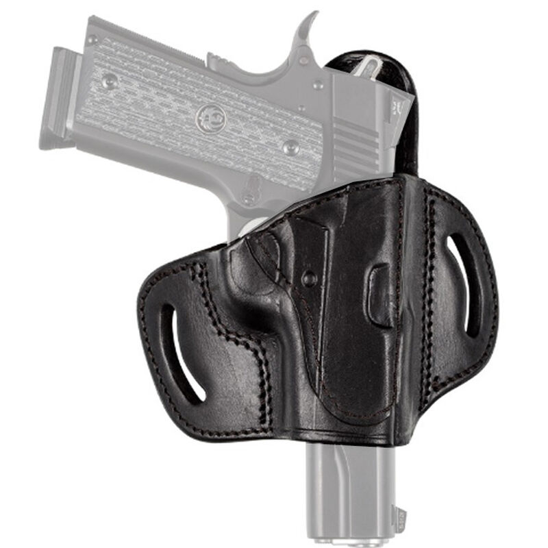 Tagua Gunleather TX1836 Fort 1911 with Out Rail Belt Slide Holster Right Hand Leather Black