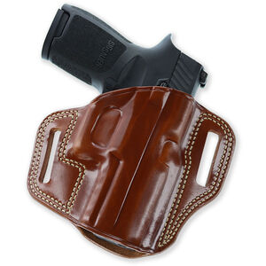 Combat Master Belt Holster Glock 19 23 32 & 36 Right Hand Leather Tan
