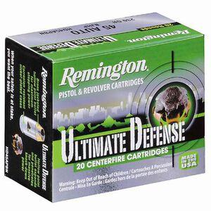 Remington .380 ACP UD Ammunition 20 Rounds, BJHP, 102 Grains