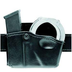 Safariland Model 573 Open Top Magazine and Handcuff Pouch Right Hand Hardshell STX Plain Black 573-76-411