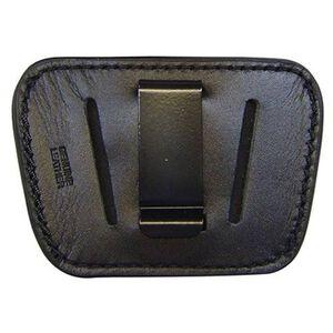 Personal Security Products Homeland Medium/Large Semi Auto Belt Slide Holster Ambidextrous Leather Black HLO35BLK