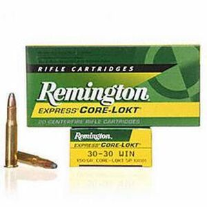 Remington Express .30-30 Winchester Ammunition 20 Rounds 150 Grain Core-Lokt Soft Point Projectile 2390fps